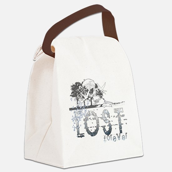 lost forever for black shirts Canvas Lunch Bag