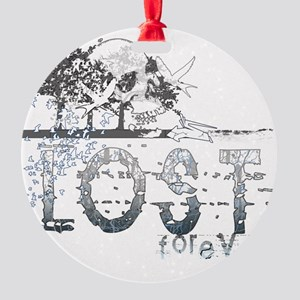 lost forever for black shirts Round Ornament