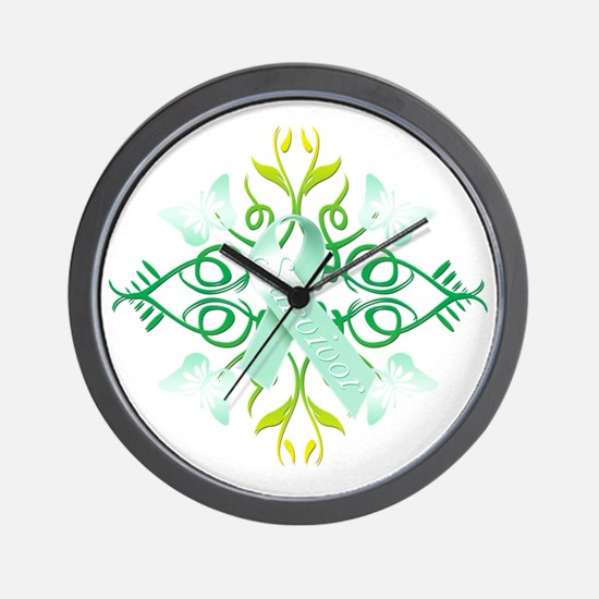 Teal Survivor Wall Clock