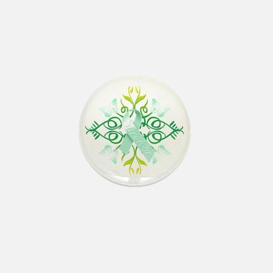 Teal Survivor Mini Button