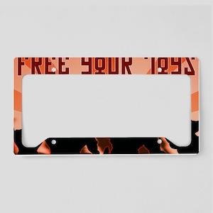 freeyourtoyshat2 License Plate Holder