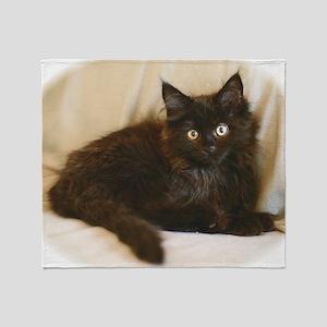black-smoke-maine-coon-kitten1 Throw Blanket