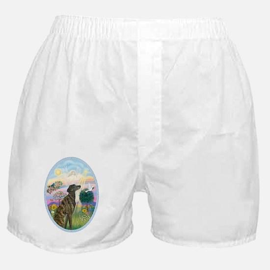 Cloud Angel - Brindle Greyhound Boxer Shorts