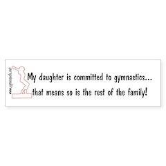 Gymnastics Mom's Bumper Bumper Sticker