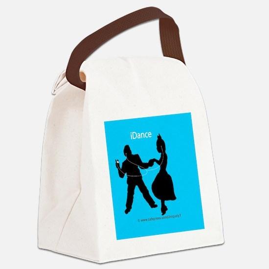 iDance_BlueBG_Round Canvas Lunch Bag