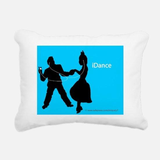 iDance_BlueBG_SmPoster Rectangular Canvas Pillow