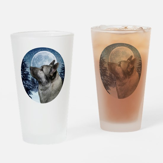 Norwegian Elkhound Drinking Glass