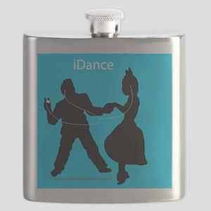 iDance_BlueBG_SquareTile Flask
