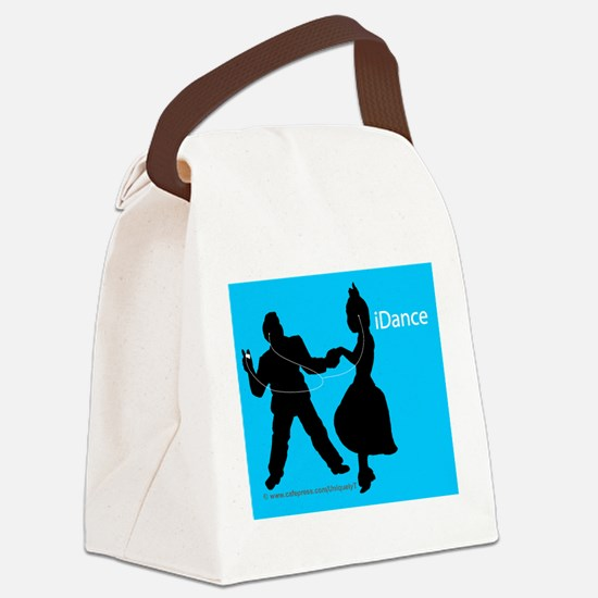 iDance_BlueBG_Mousepad Canvas Lunch Bag