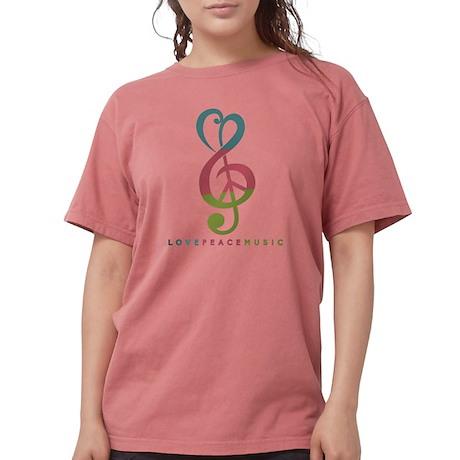 Love Peace Music Treble Symbol Modern T-Shirt