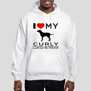 I Love My Curly-Coated Retriever Hooded Sweatshirt