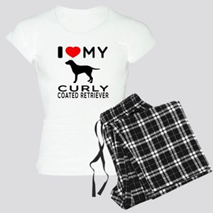 I Love My Curly-Coated Retriever Women's Light Paj