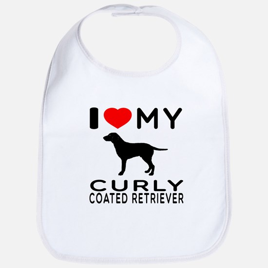 I Love My Curly-Coated Retriever Bib