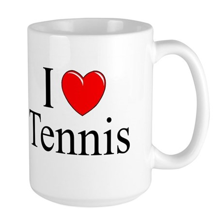 """I Love (Heart) Tennis"" Large Mug"