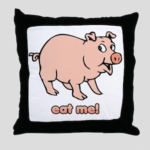2-eatme Throw Pillow