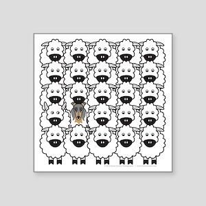 "bmCollieSheep Square Sticker 3"" x 3"""