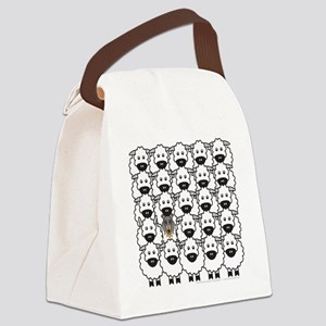 bmCollieSheep Canvas Lunch Bag