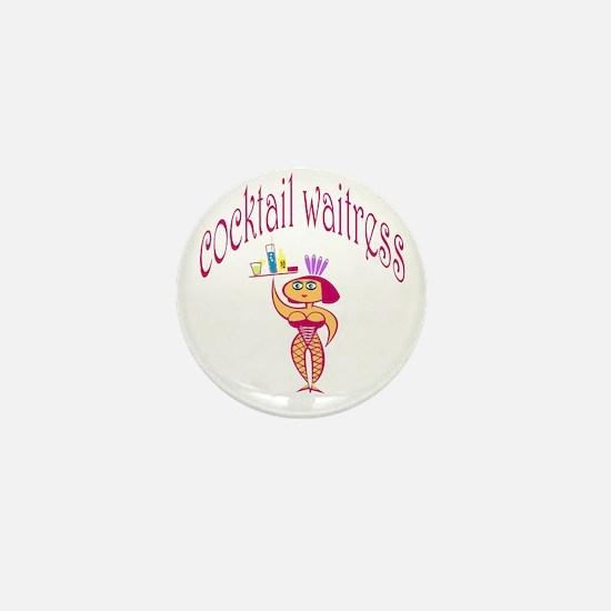 Cocktail Waitress Mini Button