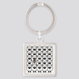bmSmoothCollieSheep Square Keychain