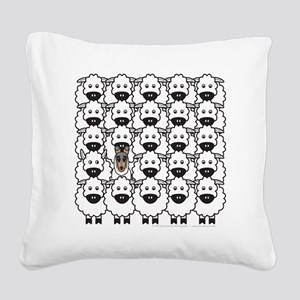 bmSmoothCollieSheep Square Canvas Pillow