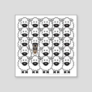 "bmSmoothCollieSheep Square Sticker 3"" x 3"""