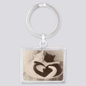 Love in Black and White (vintag Landscape Keychain