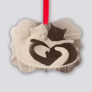 Love in Black and White (vintage) Picture Ornament