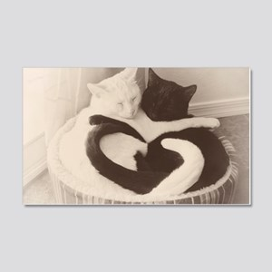 Love in Black and White (vintage) 20x12 Wall Decal