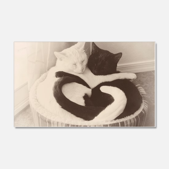 Love in Black and White (vintage) Decal Wall Sticker