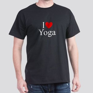 """I Love (Heart) Yoga"" Dark T-Shirt"