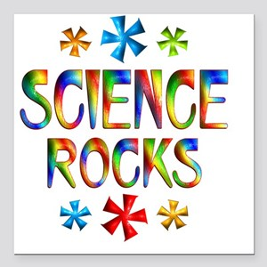 "SCIENCE Square Car Magnet 3"" x 3"""