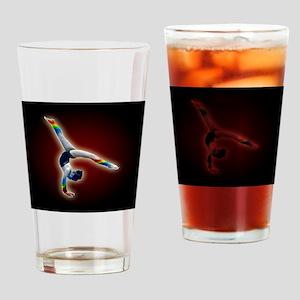 2-gymnast rainbow mousepad Drinking Glass