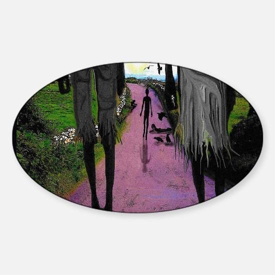 WALK OF DEATH tee shirt Sticker (Oval)