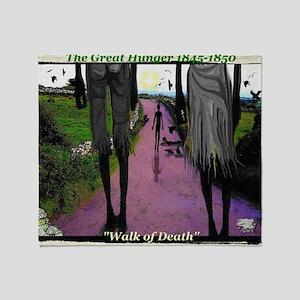 WALK OF DEATH tee shirt Throw Blanket