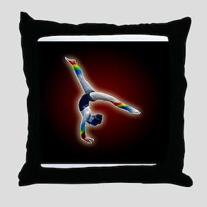 gymnast rainbow lg frame Throw Pillow