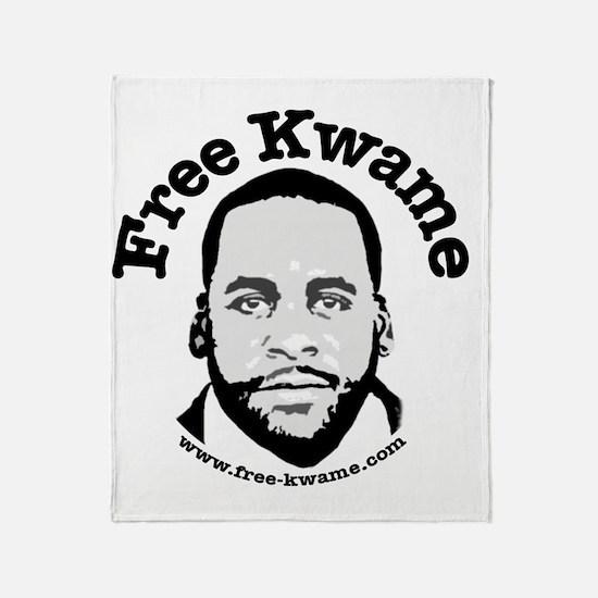 Free Kwame - Round Throw Blanket