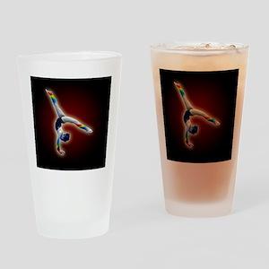 gymnast rainbow framed panel print Drinking Glass