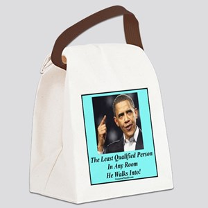 Obama Least Qualified p Canvas Lunch Bag