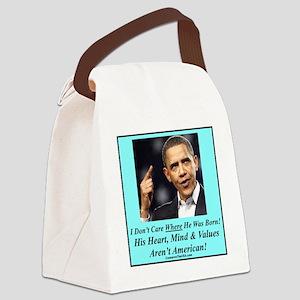 Obama Born p Canvas Lunch Bag