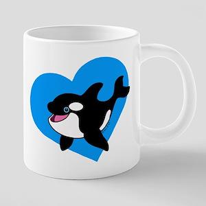 Whale (blue) 20 oz Ceramic Mega Mug