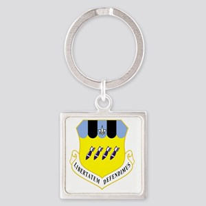 2nd BW - Blue Square Keychain