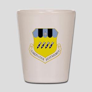 2nd BW - Blue Shot Glass