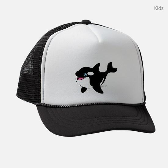 Whale (A) Kids Trucker hat