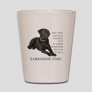 Black Lab Dad Shot Glass