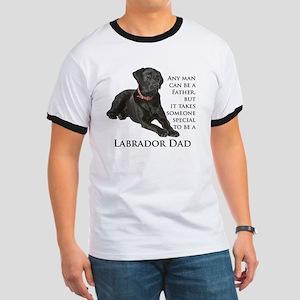 Black Lab Dad Ringer T