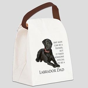 Black Lab Dad Canvas Lunch Bag