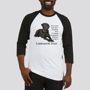 Black Lab Dad Baseball Jersey