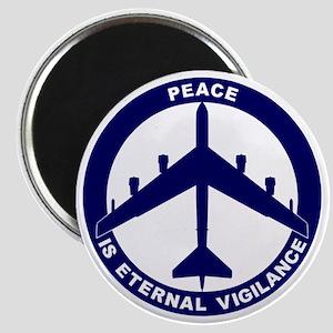 Peace Is Eternal Vigilance - B-52H Blue Magnet