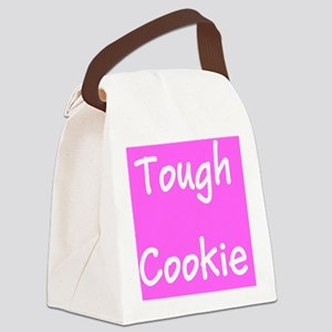 Pink Breast Cancer Tough Cookie 4 Canvas Lunch Bag