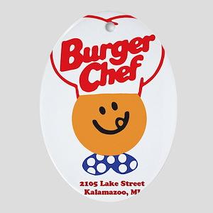 Burger Chef Kalamazoo Lite Oval Ornament